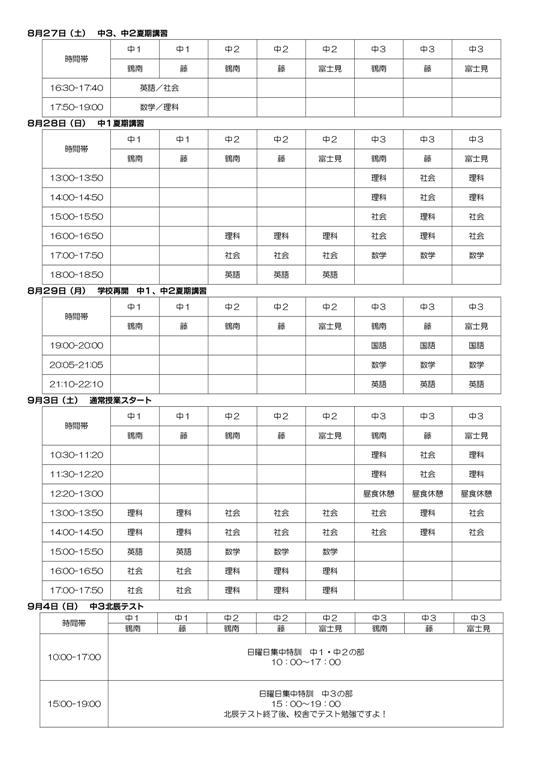 【鶴ヶ島市鶴ヶ丘の学習塾 トーゼミ】前期期末テスト対策のご案内